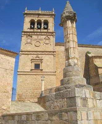 Torre plateresca de la iglesia de Morón