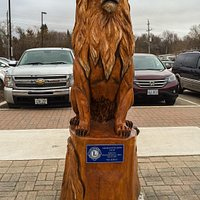A Carving Sponsored by the Lions Club