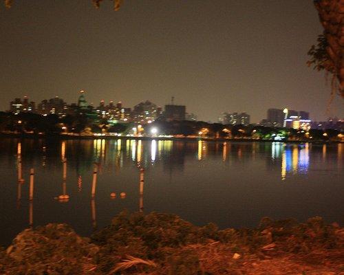 Blurry City Scenery around Lotus Lake