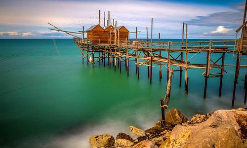 Another fishing hut set out on the Adriatic Coast in Termoli