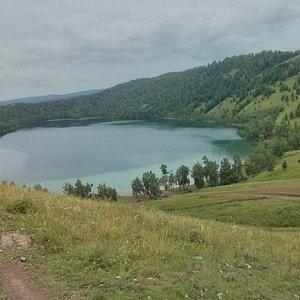 Вид на озеро сверху