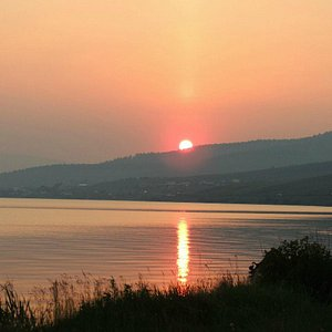 Закат на озере Большом
