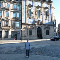 Beautiful façade of Congregados Church in downtown O Porto