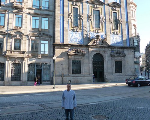Beautiful façade of Congregados Church in downtown O Porto