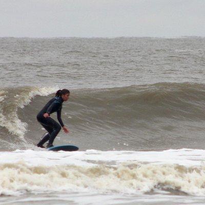 Lekker longboarden op onze surfspot