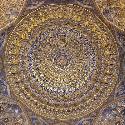 "Golden ""dome,"" inside Tilla Kori"