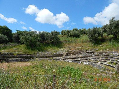The old Gytheio amphitheatre