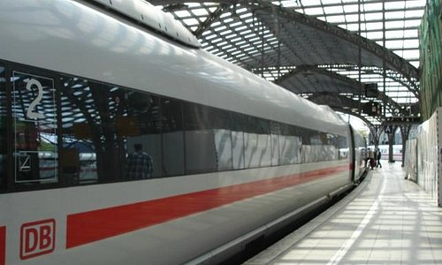 Ice train in Cologne's railway station