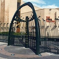 front gate and building. supposed to represent whaling