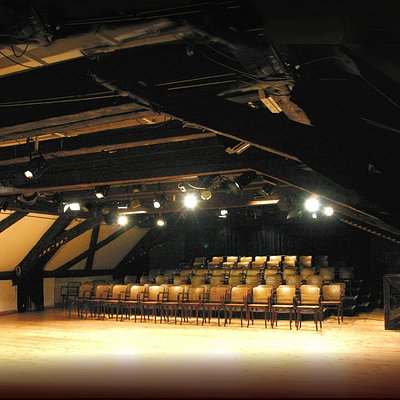 The theatre resides in the attic of the 17th century Kolowrat Palace