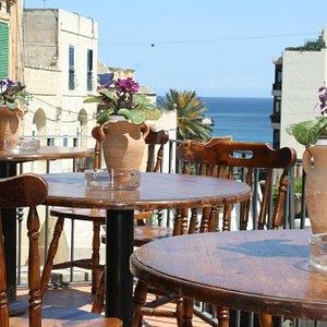 Balcony overlooking Balluta Bay