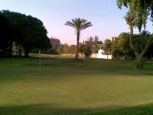 The golf Area, at the back of the club...
