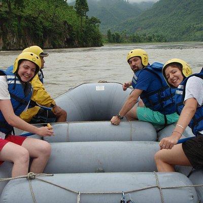 Rafting on Trishuli river