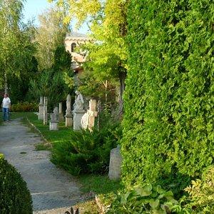 The garden alongside the church