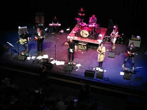 Performers as seen from top balcony
