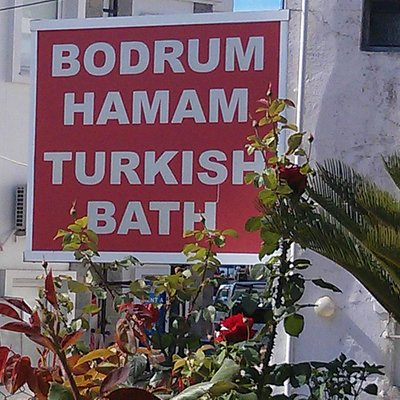 Erm. the sign for the hamam!