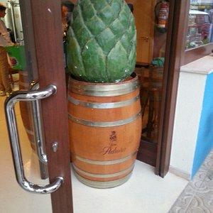 Artichoke advertising Badum artichoke beer