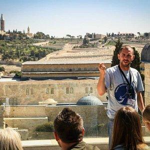 View of Al Aqsa and Mt Olives