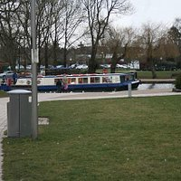 canal boat/restaurant