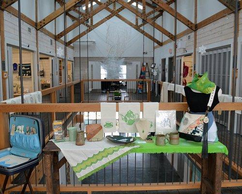 Upstairs display and studios