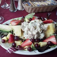 Chicken Salad Stuffed Pineapple! YUMMMY!
