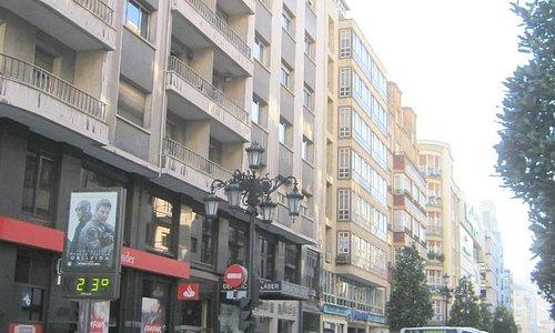 Vista de la calle Uría