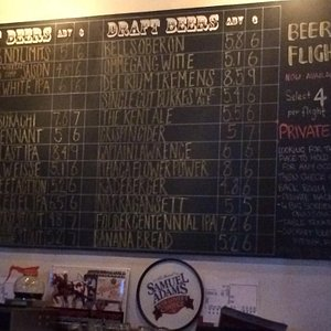 Choice of beer at Kent Ale House