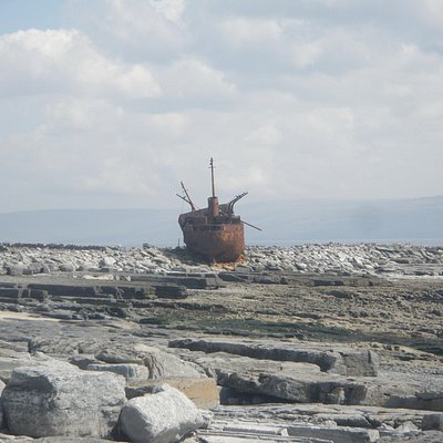 Father Teds wreck on Craggy Island