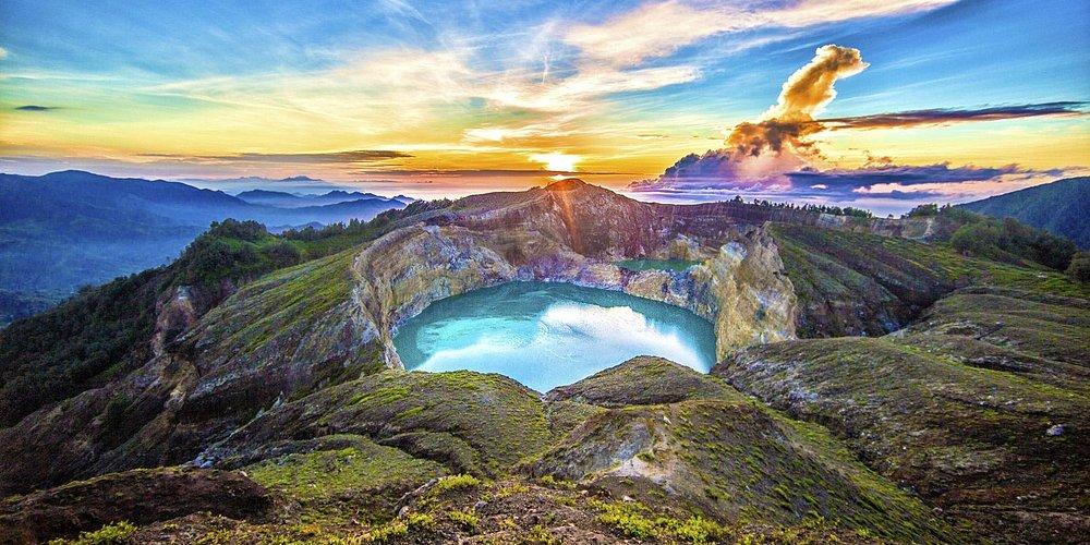 Kelimutu - Crater Lake Volcano - Ende - Flores - Indonesia - Wandervibes - sunrise