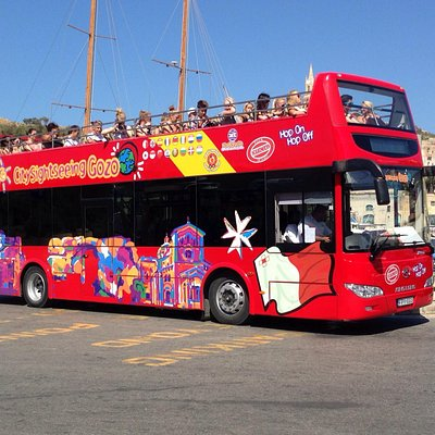 City Sightseeing Gozo Bus at the Mgarr Harbour