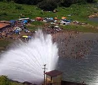 barragem vista de cima