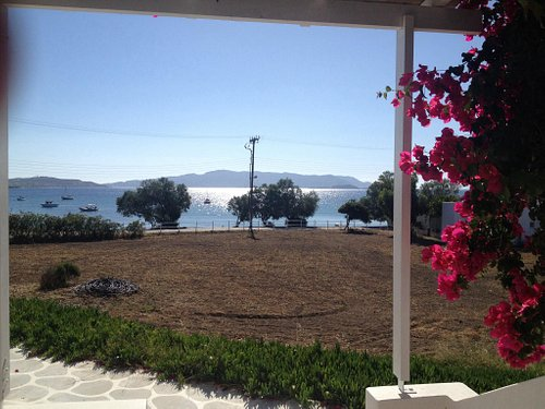 View on pollonia bay from our hotel