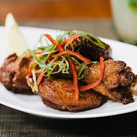 Soy marinated wings.  Soy good.