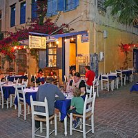 Dining in the evening at the Well of the Turk