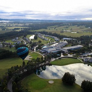 Flying low over Crowne Plaza Hunter Valley