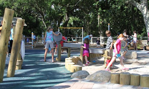 sand play and water feature