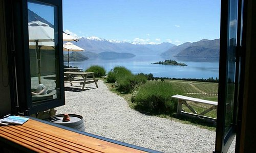 The view from the Rippon Cellar Door