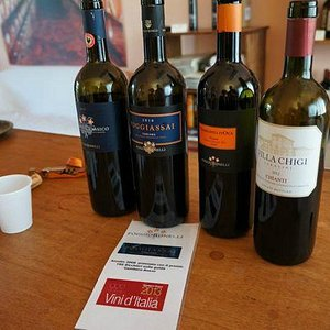 the 4 wines we tasted