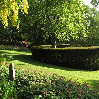 The crescent at the top of the garden.