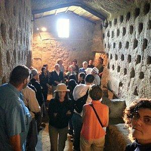Interno degli scavi di Orvieto