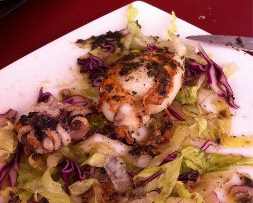 Calamari con salsina di olio, prezzemolo ed aglio
