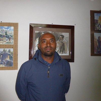 Mr Tegegne Yrdaw, artiste peintre