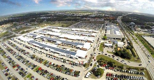 Aerial view of Fleamasters Fleamarket