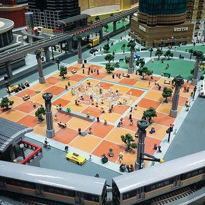 Centennial Olympic Park made from Legos
