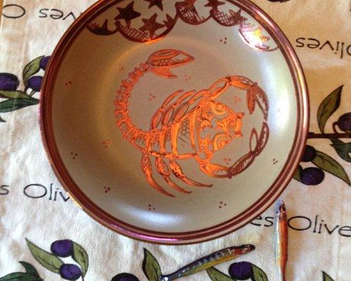 Copper Scorpion Bowl