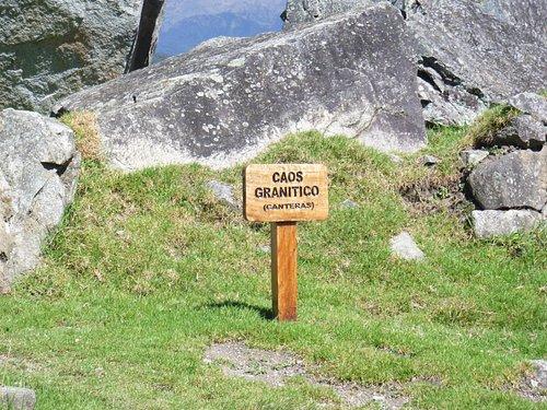 遺跡内の標識