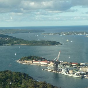 Garden Island as seen from the Sydney Eye (formerly known as Centrepoint Tower).