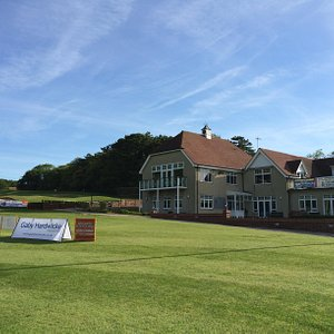 Clubhouse and course open to the public