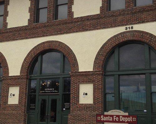 Temple Railroad museum - front entrance