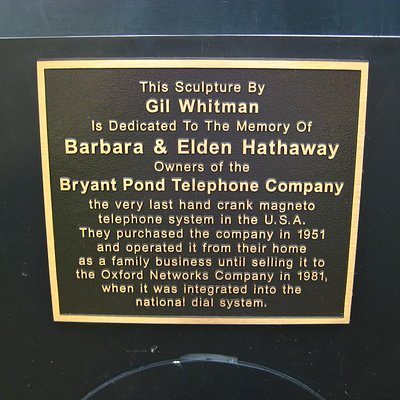 Phone plaque.